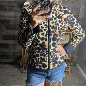Maggy London Giraffe Animal Print Zip Jacket